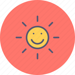 day, rays, summer, sun, sunny, sunshine, weather icon