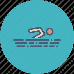 activity, pool, recreation, swim, swimming, vacation, water icon