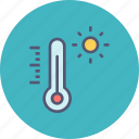 celsius, fahrenheit, heat, hot, summer, temperature, thermometer