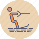 beach, holiday, skiing, summer, surfing, vacation, wakeboarding icon
