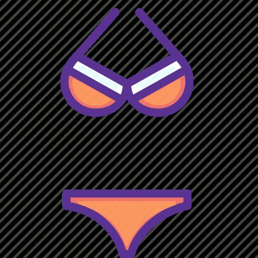 beach, bikini, costume, dress, innerwear, lingerie, sea icon