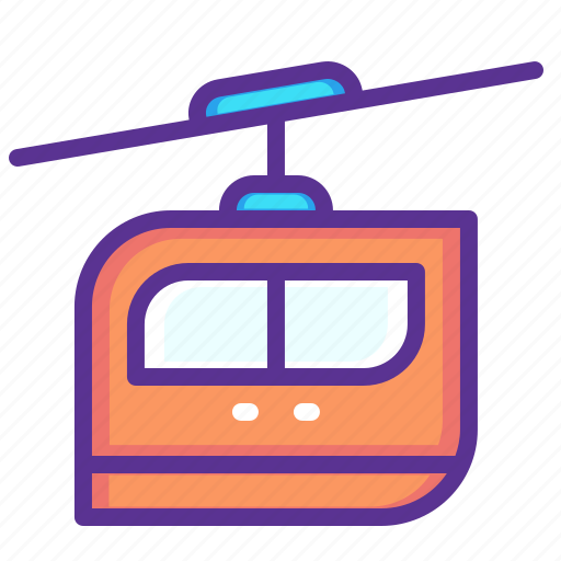 cable, car, rail, railway, rope, service, transport icon