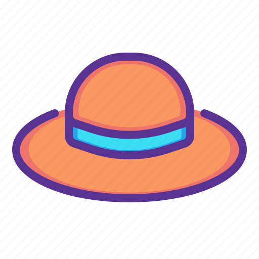 accessory, brim, clothing, fashion, hat, summer, wear icon