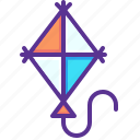 fly, flying, fun, kids, kite, kiting, wind icon