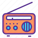 communication, device, fm, listen, media, radio, songs icon