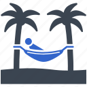 beach, hammock, summer, relaxation, sleeping, holidays, vacations