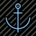 summer, anchor, beach, vacation, holiday, travel