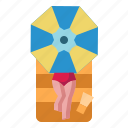 beach, chair, umbrella, sunbathing, vacation, summer, sea