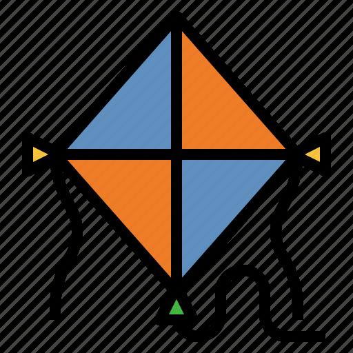 Kite, fly, summer, childhood, beach icon - Download on Iconfinder