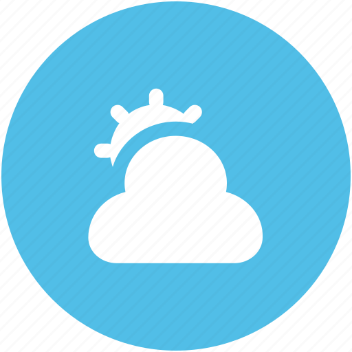 cloud, cloudy, sun, sunny cloudy, sunrise, sunset, weather, winter icon