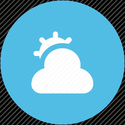 cloud, cloudy, sun, sunny cloudy, sunrise, sunset, weather, winter icon