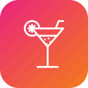 cocktail, drink, glass, juice, lemon, summer icon