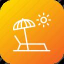beach, relax, seaside, summer, sun, sunbath, umbrella icon