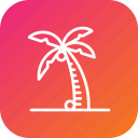 beach, coconut, drink, summer, tree, vacation icon