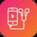 earphone, headphone, ipod, music, player, song icon