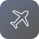 aeroplane, airplane, flight, fly, holiday, plane, vacation icon