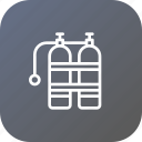 cylinder, equipment, life, oxygen, safety, saver, tanks icon