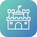 beach, castle, fort, fun, play, sand, summer icon