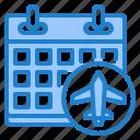 calendar, airplane, flight, travel, event
