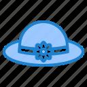 hat, flower, cloche, fashion, woman