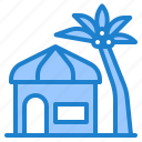 resort, hotel, plam, tree, coconut, summer