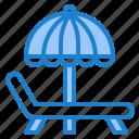 umbrella, beach, chair, sea, summer, deck