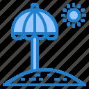 umbrella, sand, beach, sea, sun