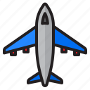 airplane, flight, transport, travel, jet