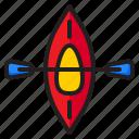 canoe, kayak, sport, adventure, boat