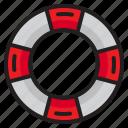 lifeguard, life, ring, security, lifebuoy, help