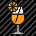 orange, juice, drink, glass, beverage, cocktail