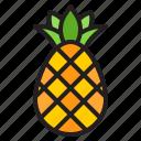 pineapple, fruit, tropical, food, juice