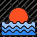 sunset, sun, summer, sea, sunrise