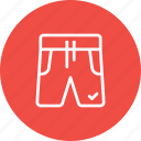 boxer, cloth, fashion, half, pants, shorts, wear icon