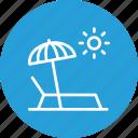 beach, relax, seaside, summer, sun, sunbath, umbrella