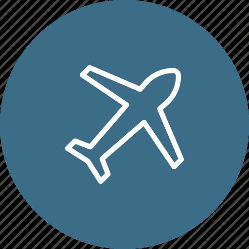 aeroplane, airplane, flight, fly, holiday, plane, vacation icon