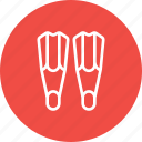 fins, footwear, protection, safety, scuba dive, swimsuit, under water icon