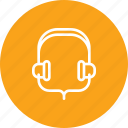 earphone, headphone, headset, music, song, sound icon