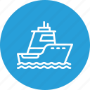 boat, cruise, ocean, sea, ship, vehicle, water icon