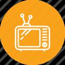 antenna, old, television, tv, vintage