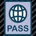 summer, passport, travel, vacation, identification