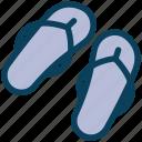 summer, casual, flip, slippers