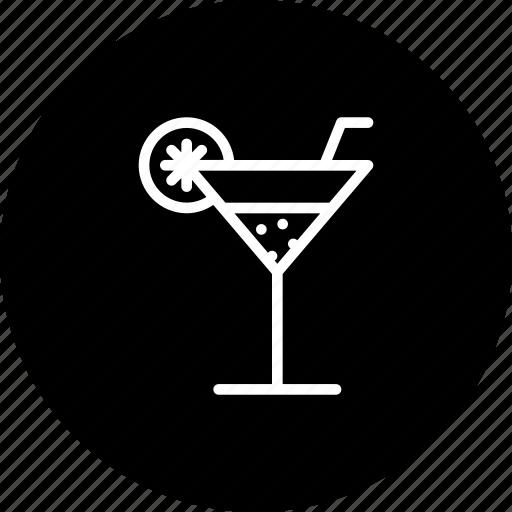 cocktail, drink, glass, juice, lemon, summer icon
