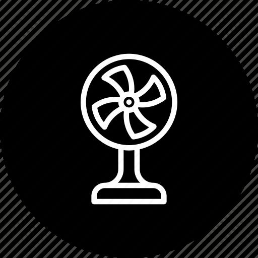 device, electric, equipment, fan, fancy, tablefan icon
