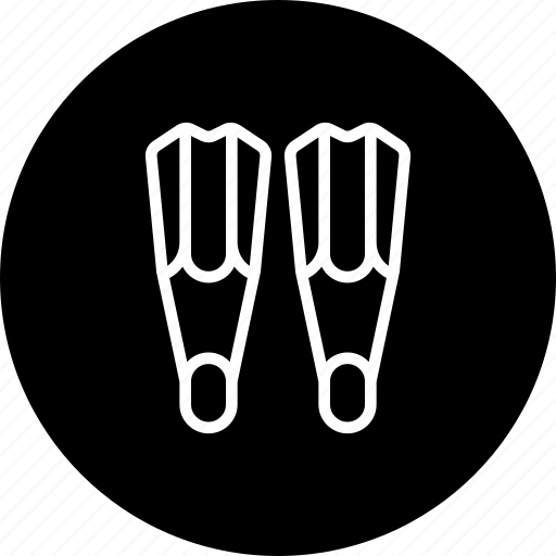 dive, fins, footwear, protection, safety, scuba, swimsuit icon