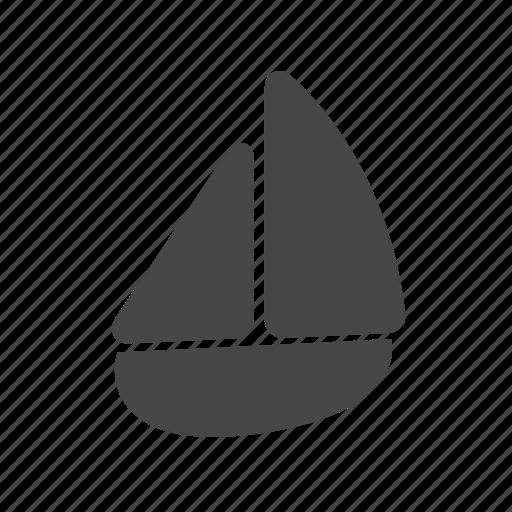 sail boat, summer icon
