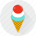 cone, cream, dessert, food, ice, summer, sweet icon