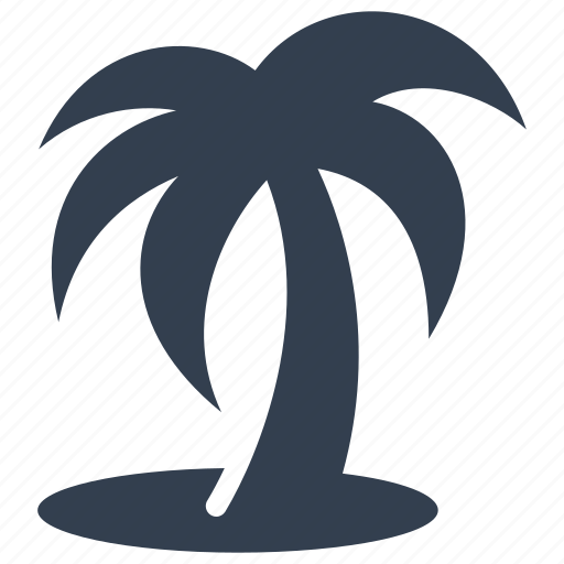 beach, leaves, palm, sea side, summer, tree, tropical, vacation icon