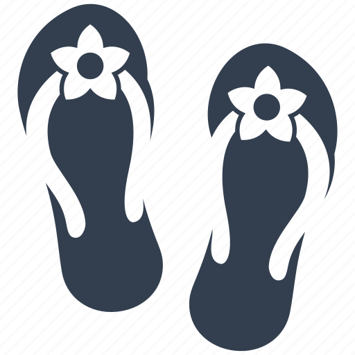 beach, flip-flops, flops, footware, hot, sea, summer, vacation icon