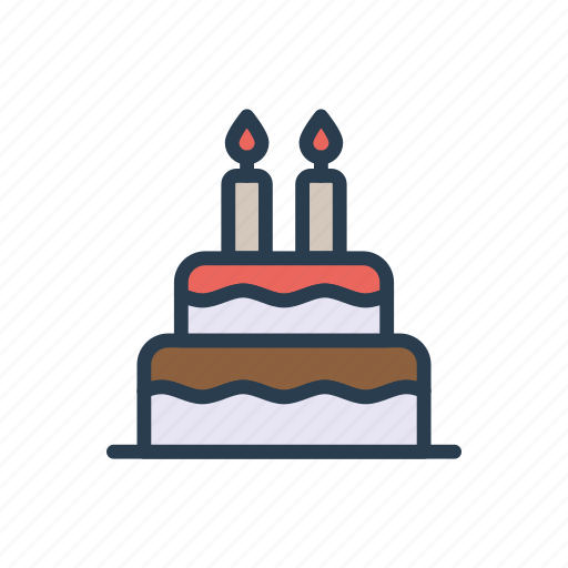 Birthday Cake Candle Muffin Sweet Icon